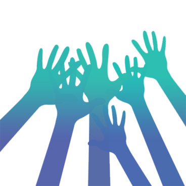 hands raised in support, parent teen attachment