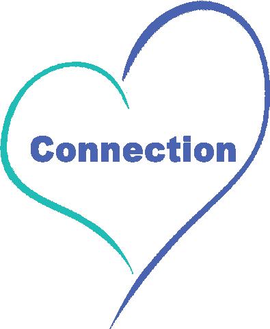 graphic depicting connection inside a heart. Parent child attachment